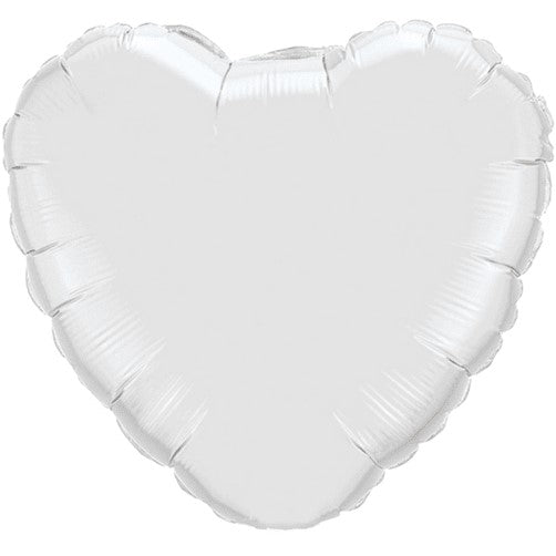 Foil Heart Balloon - White
