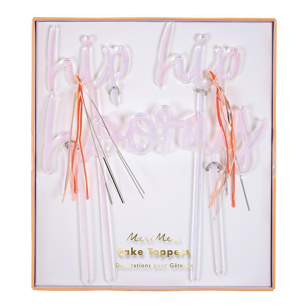Meri Meri -Hip Hip, Hooray Cake Topper