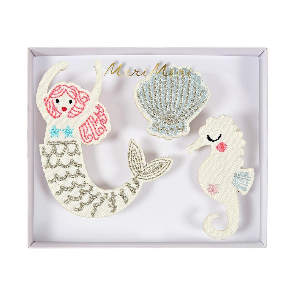 Meri Meri - Mermaid Embroidered Brooches