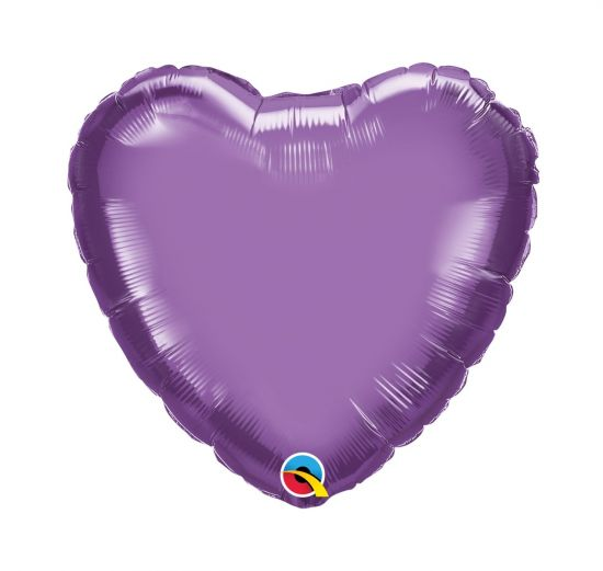 Foil Heart Balloon - Chrome Purple