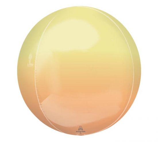 Orbz Balloon - Ombre Lemon & Orange