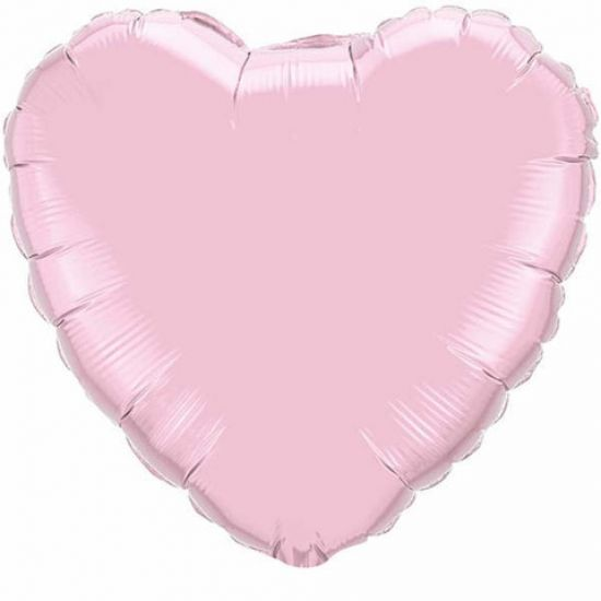 Foil Heart Balloon - Pearl Pink