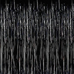 Black Foil Fringe Curtain