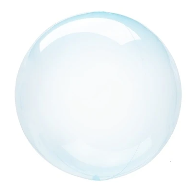 Crystal Clearz Balloon - Blue
