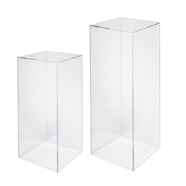 Clear Acrylic Square Plinth Hire