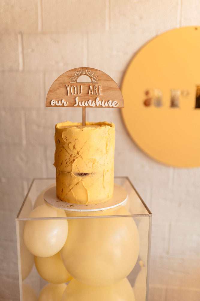 Ky and Co Creations x PMP - OUR SUNSHINE - Cake Topper