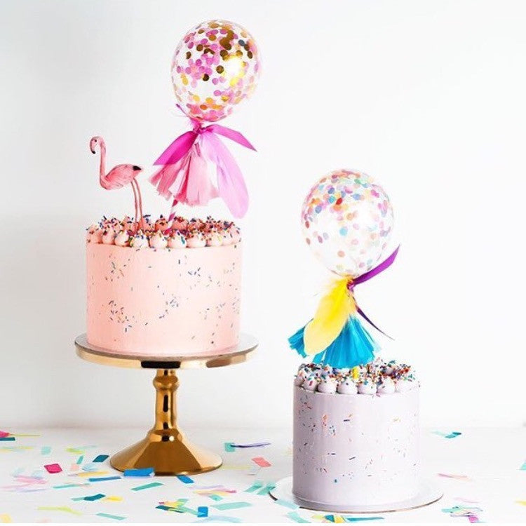 Fancy Pop Cake Topper - Pink Shimmer