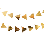 Goddess - Gold Triangles Garland