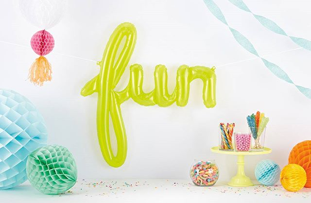 Fun Script Balloon - Green