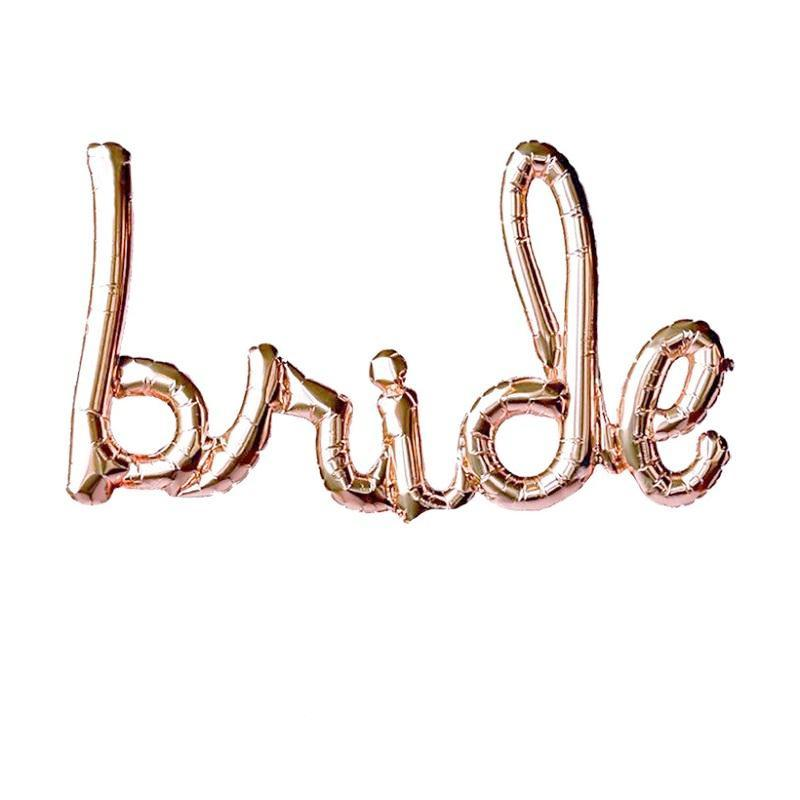 Bride Script Balloon - Rose Gold