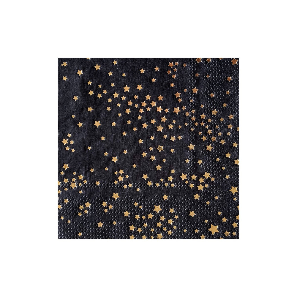 Zodiac - Gold Stars Cocktail Napkins