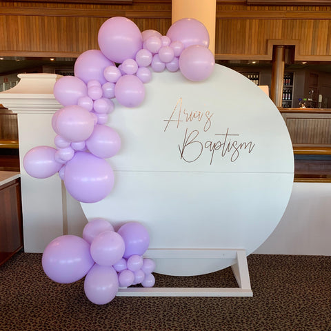 White Wooden Backdrop and Balloon Package