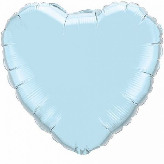 Foil Heart Balloon - Pearl Blue