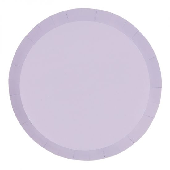 Pastel Lilac Plates