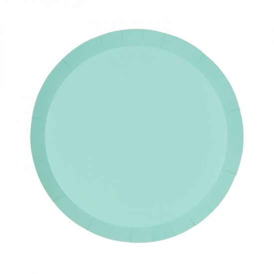 Pastel Mint Green Snack Plates