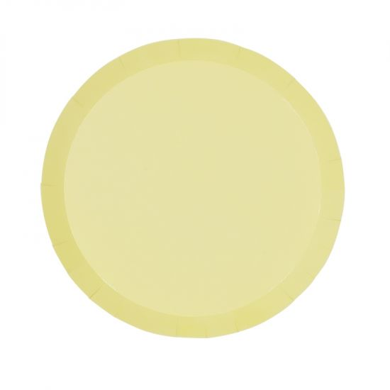 Pastel Yellow Snack Plates