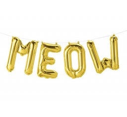Gold Foil Balloons - MEOW