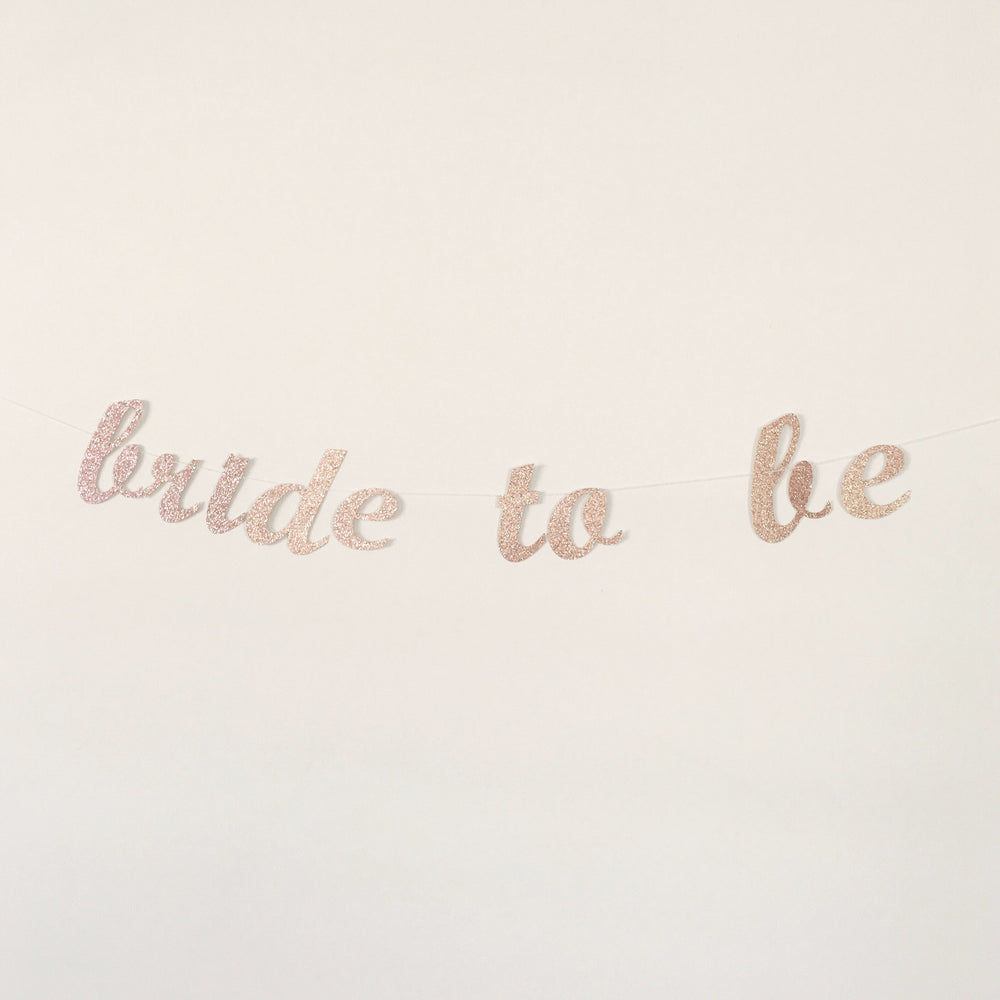 Bride To Be - Blush Glitter Garland
