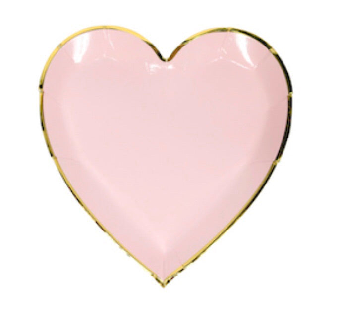 Sweetheart Pink Heart Plates