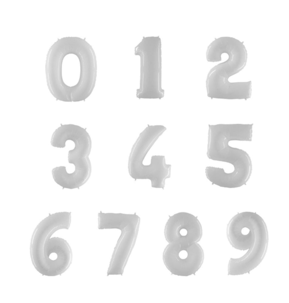 White Foil Numbers