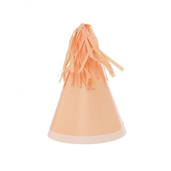 Party Hat with Tassel Topper - Peach