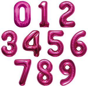Hot Pink Foil Numbers