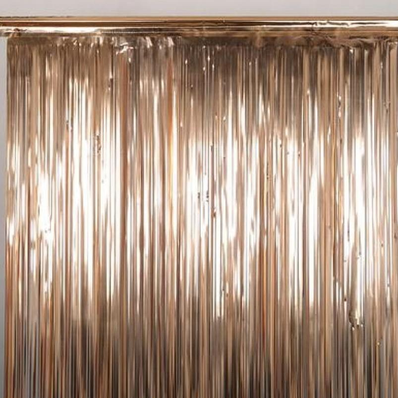 Rose Gold Foil Fringe Curtain