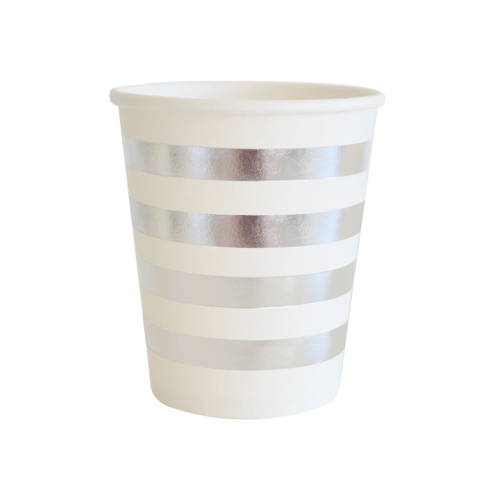 Silver Stripe Cup - Pack of 12
