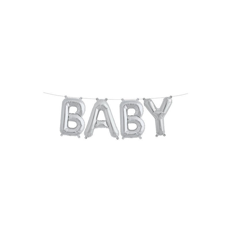 Baby Foil Balloons - Silver
