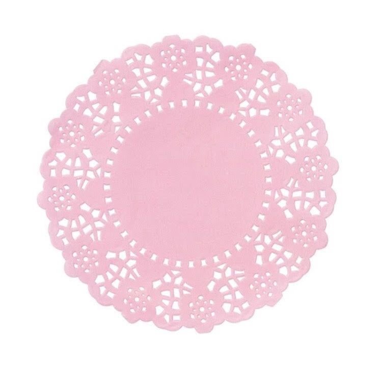 Pink Mini Doilies - 100 Pack