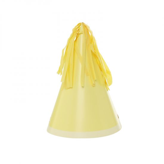 Party Hat with Tassel Topper - Lemon
