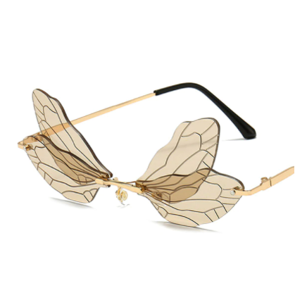 Genie Wings Rimless Statement Glasses