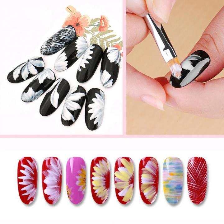 FloraChic - Flower Petals Nail Art Brush Pen Set