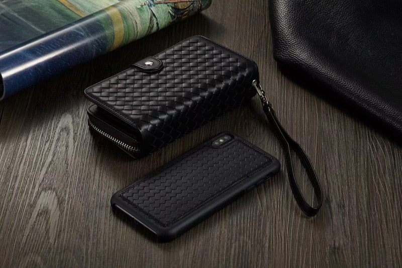Woven Phone Wallet for iPhone and Samsung
