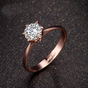 Highness 6 Prong 1Ct Crystal ring