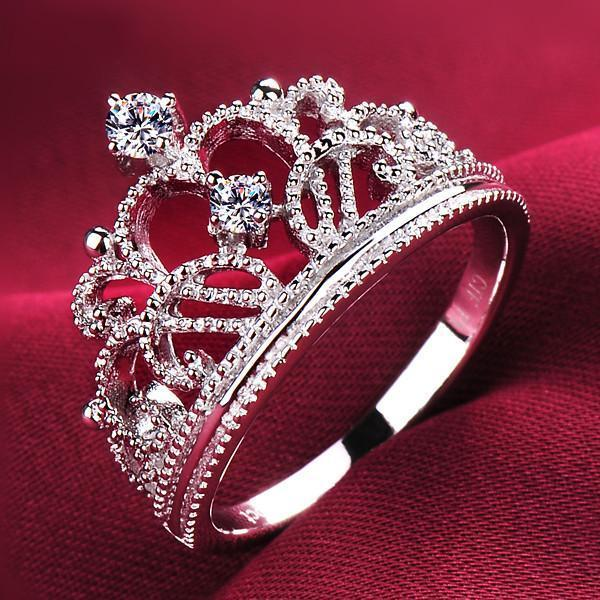 Princess Tiara Crystal Ring