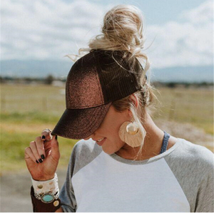 GlitterGlam Ponytail Caps - Great for high ponytails & messy buns