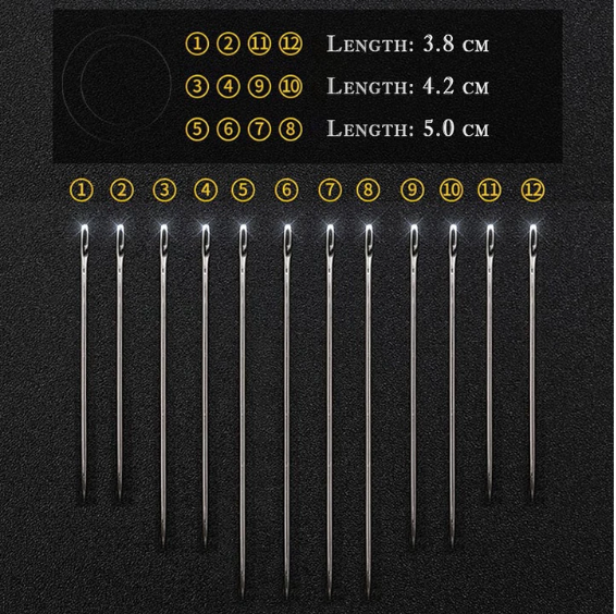 The NoSweat™ Self-Threading Sewing Needles (12pc/set)