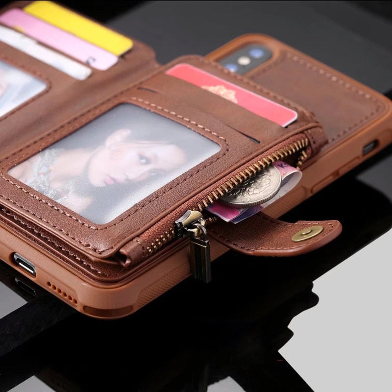 OCOTEX Flip Phone Wallet for iPhone and Samsung