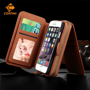 CORNMI Luxurious Phone Case Wallet with Wrist + Shoulder Strap for iPhone & Samsung Phones (Model: SUPER005)