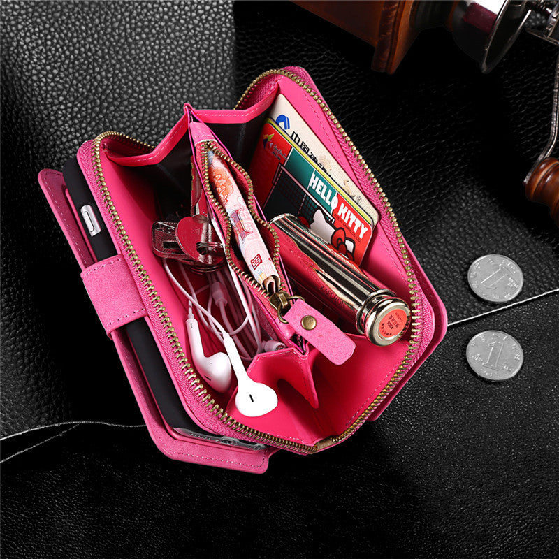 Cross Body Phone Wallet with Shoulder Strap & Wrist Strap for Samsung & iPhone