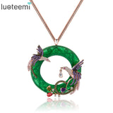 Stunning Double Pheonix Pendant Necklace