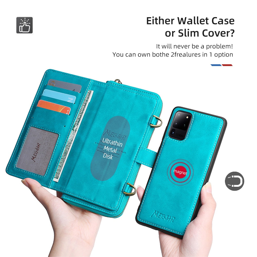 Crossbody Phone Wallet for iPhone & Samsung