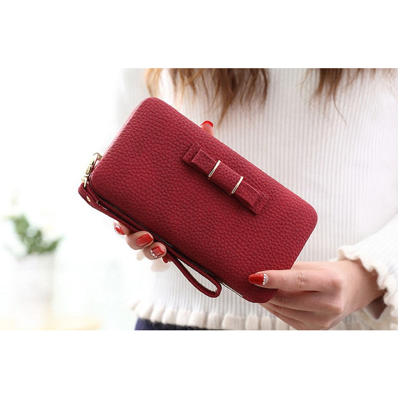 Luxury Lady Phone Wallet with Wrist Strap for All Phone Models