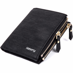 Stylish RFID Protection Zipper Wallet