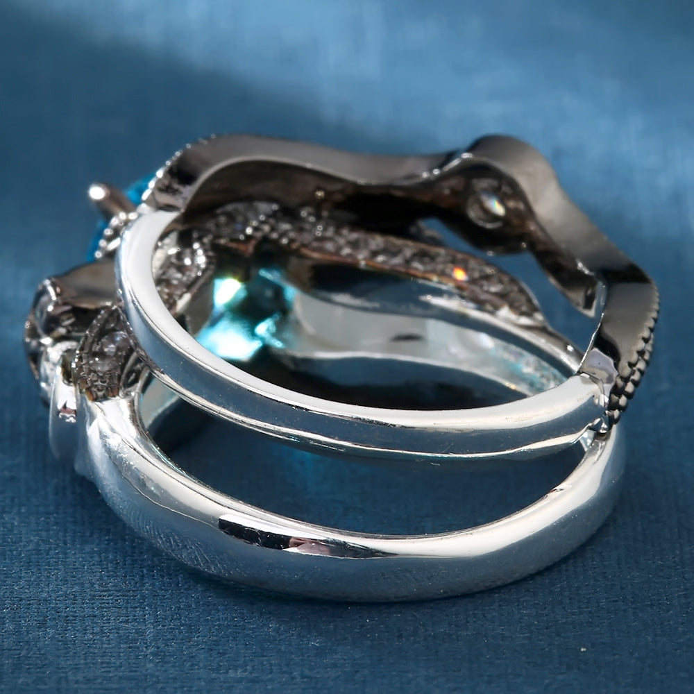 Mystic Skull Double Ring Set