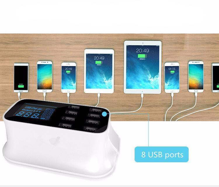 Charges Up to 8 Devices At The Same Time!