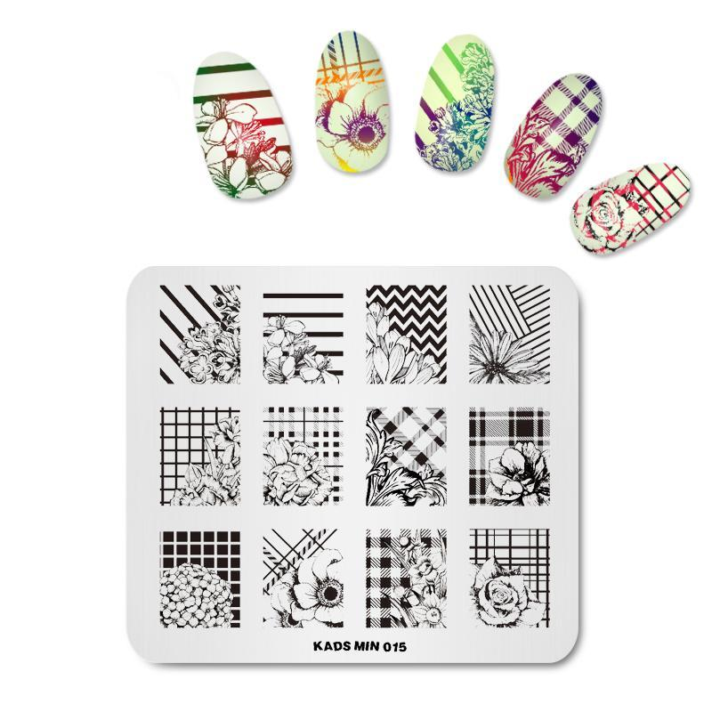 Mystique Stamp-On Nail Prints Templates - Set of 4