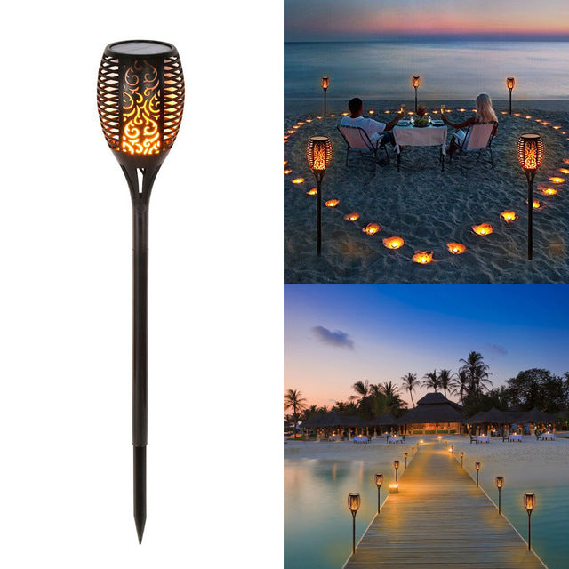 Dancing Flames Outdoor Torch - Solar Powered!