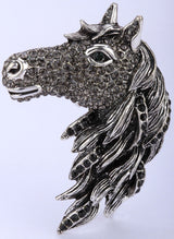 Horse Stretch Ring with Rhinestones (Model: Horse 3)
